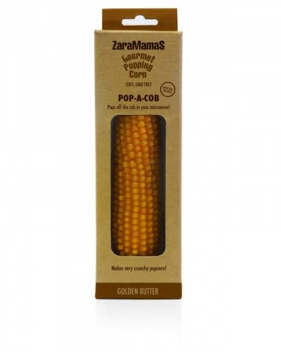 Zara Mama s   Gourmet Popcorn   100% GMO free   (ingen sprøytemidler)    Maiskolbe som legges inn i micro ovnen og ut kommer  en ferdig pose  med gourmet popcorn! Kjempekul gave!